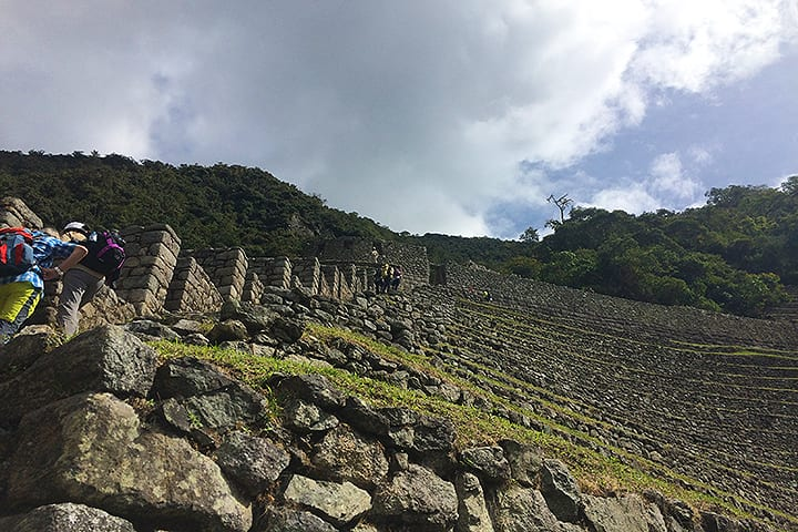 stairs to moon temple in winay wayna in 2 day inca trail to machu picchu
