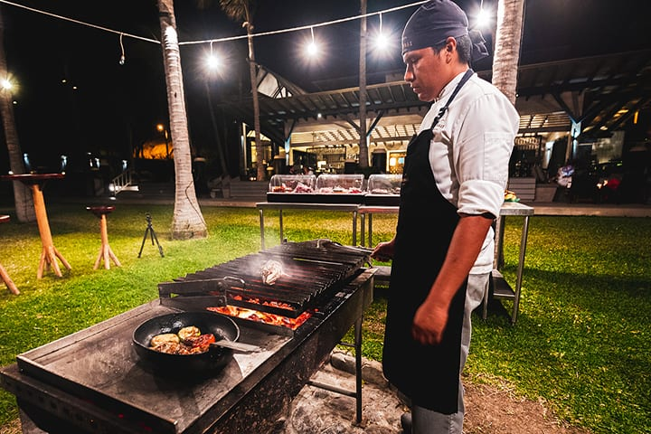 bbq or grill food in mancora beach peru