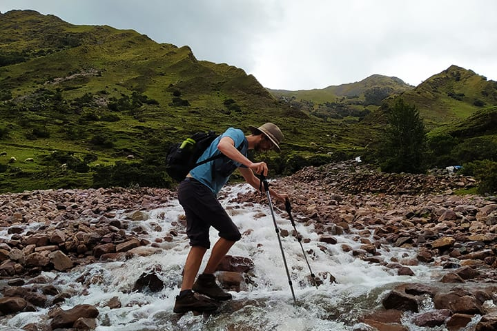 creek on lares trek