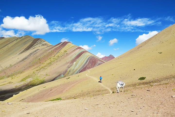 vinicunca rainbow mountain in ausangate trek