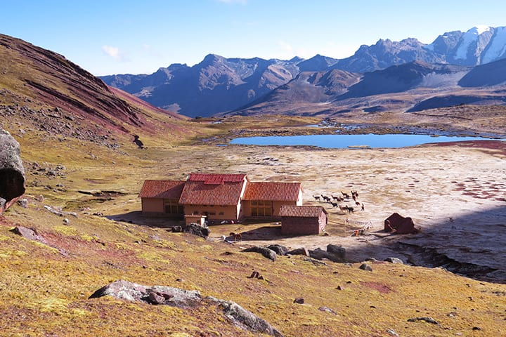 last Andean lodge in ausangate trek
